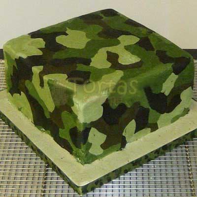 Grameco.com - MILITAR 06 - Codigo:MIL06 - Detalles: Deliciosa torta de keke De Vainilla ba�ada con manjar y forrada con masa elastica de Medida 25 x 25 cm diametro, decoracion seg�n imagen, base forrado en papel de aluminio. - - Para mayores informes llamenos al Telf: 225-5120 o 476-0753.