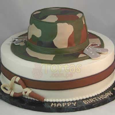 Torta Army | Army Military Birthday Cake | Torta militar - Whatsapp: 980-660044