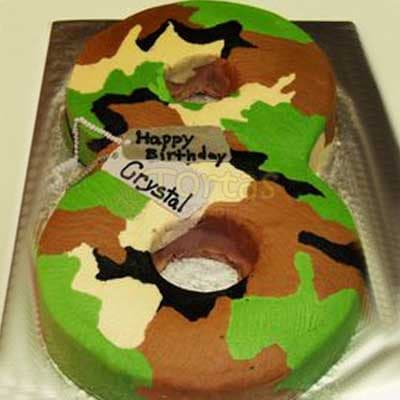 Torta Numero Militar - Cod:MIL08
