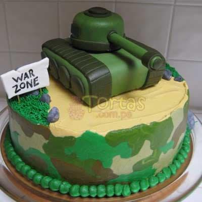 Grameco.com - MILITAR 20 - Codigo:MIL20 - Detalles: Deliciosa torta de keke De Vainilla ba�ada con manjar  forrada con masa elastica de Medida: 20 cm de diametro,decoracion en masa elastica, base forrado en papel de aluminio. - - Para mayores informes llamenos al Telf: 225-5120 o 476-0753.
