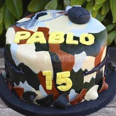 Torta Camuflada - Cod:MIL21