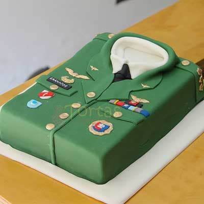 Torta Uniforme Militar - Cod:MIL22