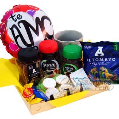 Cesta de regalo para amantes del Cafe - Whatsapp: 980-660044