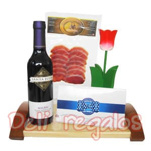 Regalo Gourmet con Vinos importados | Canasta regalo Mujer | Canastas de Regalo - Cod:MNE09
