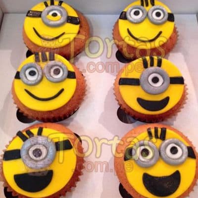6 muffins  Mi villano | Minions | Torta de minions - Cod:MVF02