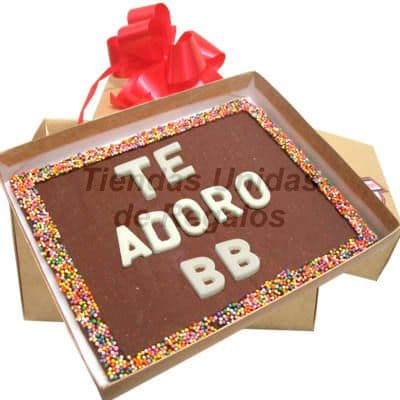 Mensaje en Chocolate para regalar - Codigo:MVT03 - Whatsapp: 980-660044.