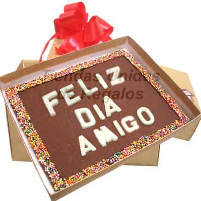 Chocolate Personalizado para Amiga | Mensajes de Chocolate a Comicilio | Chocolate - Cod:MVT06