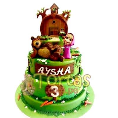 Torta de Masha y el Oso | Tortas de Masha y el Oso - Cod:MYS01