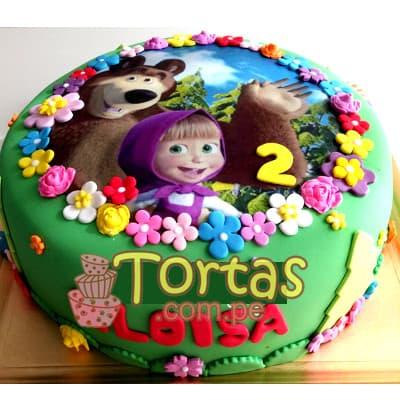 Torta Masha y el oso | Tortas de Masha y el Oso - Cod:MYS02