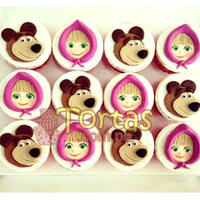 Cupcakes Masha y el Oso | Tortas de Masha y el Oso - Cod:MYS03