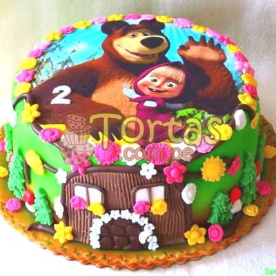 Torta de tematica Masha y el oso - Cod:MYS05
