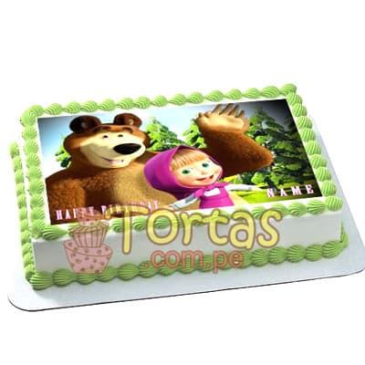 Foto Torta de Masha y Oso  | Tortas de Masha y el Oso - Cod:MYS12