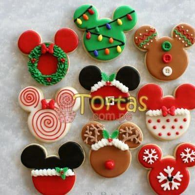 i-quiero.com - Galletas de Navidad - Codigo:NAC05 - Detalles: 9 Deliciosas galletas en forma de mickey decoradas con masa el�stica. - - Para mayores informes llamenos al Telf: 225-5120 o 476-0753.