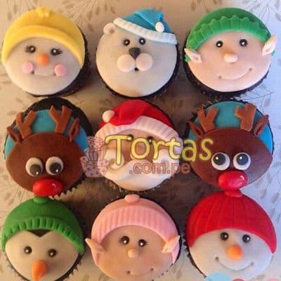 i-quiero.com - Cupcakes para Navidad - Codigo:NAC10 - Detalles: 9 muffins navide�os decorados con masa el�stica - - Para mayores informes llamenos al Telf: 225-5120 o 476-0753.