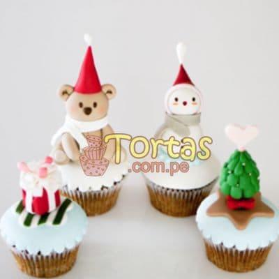 i-quiero.com - Cupcakes con tema Navidad - Codigo:NAC11 - Detalles: 4 muffins decorados con masa el�stica, mu�equitos modelados  con masa el�stica - - Para mayores informes llamenos al Telf: 225-5120 o 476-0753.
