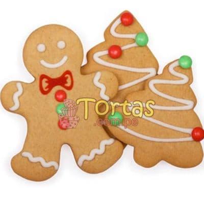 i-quiero.com - Galletas por Navidad - Codigo:NAC14 - Detalles: 6 galletas; 2 hombres de jenjibre y 4 arbolitos, decoradas con masa el�stica - - Para mayores informes llamenos al Telf: 225-5120 o 476-0753.