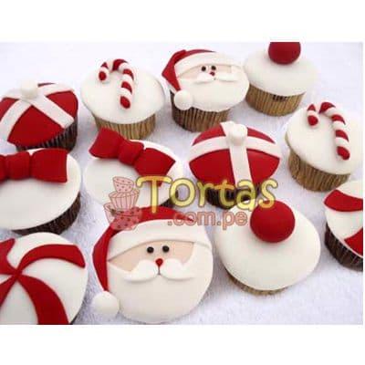 i-quiero.com - Cupcakes con tema de la navidad - Codigo:NAC16 - Detalles: 12 muffins de vainilla decorados con masa el�stica seg�n imagen - - Para mayores informes llamenos al Telf: 225-5120 o 476-0753.