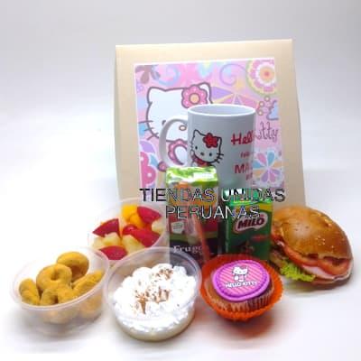 I-quiero.com - Desayuno ni�a 12 - Codigo:NAS12 - Detalles: Desayuno hello kitty, compuesto pro taza personalizada, 1 sandiwch de pollo con durazno , infusiones, caf�, postre de tartaleta, 4 tostadas, porcion de mantequilla y mermelada, cajita de chocolatada, cajita de frugos, muffin ba�ado en chocolate, 2 bonobon, todo en una caja de regalo - - Para mayores informes llamenos al Telf: 225-5120 o 476-0753.