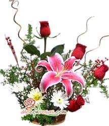 Navidad con Rosas para regalar - Cod:NAV07