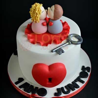 Torta para mi novia | Pasteles | Pasteles de amor | Torta de amor - Cod:NMR02