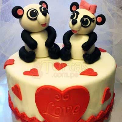 Torta Ositos Enamorados | Pasteles | Pasteles de amor | Torta de amor - Whatsapp: 980-660044
