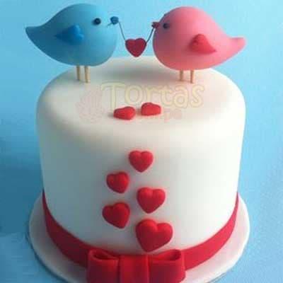 Desayunosperu.com - Enamorados 05 - Codigo:NMR05 - Detalles: Deliciosa torta de keke De Vainilla ba�ada con manjar y forrada con masa elastica de Medida: de 20 cm diametro,decoracion seg�n imagen, base forrado en papel de aluminio. - - Para mayores informes llamenos al Telf: 225-5120 o 476-0753.