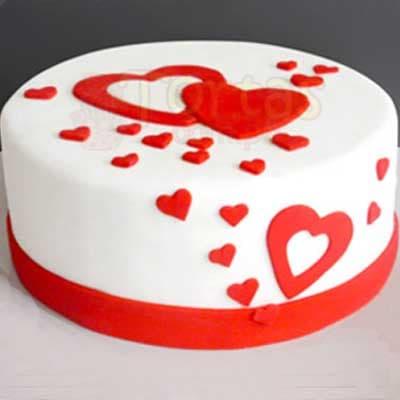 Torta de Aniversario de Novios | Torta Corazones enamorados - Whatsapp: 980-660044