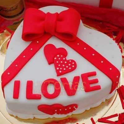Torta de Te amo | Pasteles | Pasteles de amor | Torta de amor - Cod:NMR08