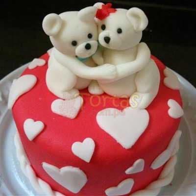 Torta Ositos Cariñosos de amor | Pasteles | Pasteles de amor | Torta de amor - Whatsapp: 980-660044