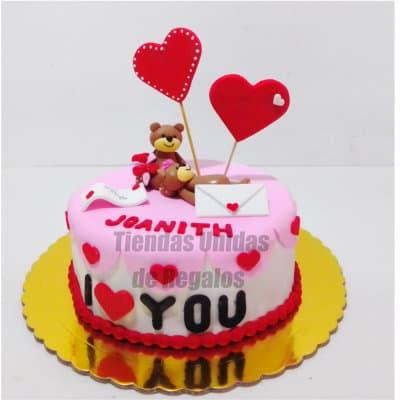 Torta de amor con ositos | Pasteles | Pasteles de amor | Torta de amor - Cod:NMR14