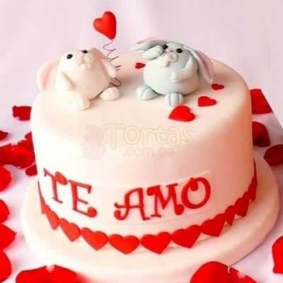 Torta Romantica para novios | Pasteles | Pasteles de amor | Torta de amor - Cod:NMR15