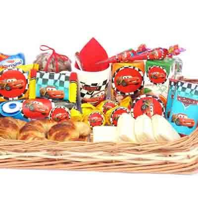 Desayunos Infantiles | Desayunos para Niños para regalar | Desayuno Cars - Cod:NOS03