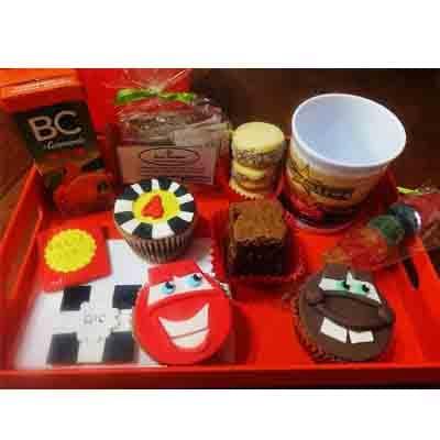 Desayunos Infantiles a Domicilio | Desayuno Cars con Taza | Desayunos Sorpresa - Cod:NOS09