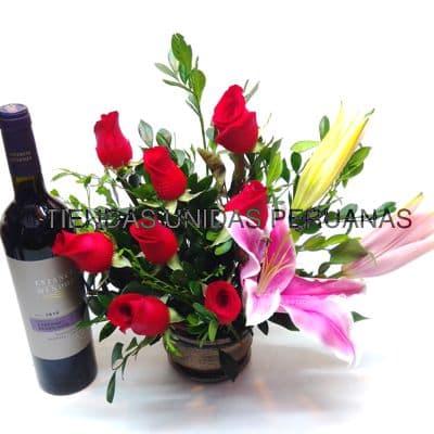 Arreglo Floral para Graduación con Cava - Cod:OFX18