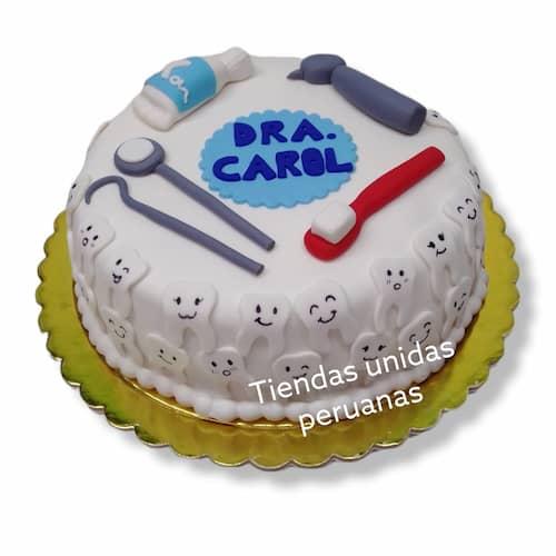 Torta para Odontologo | Odontología | Pastel de dentista | Pastel dentista - Cod:OLG03