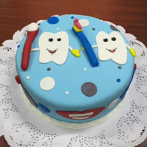 Torta Dentista | Odontología | Pastel de dentista | Pastel dentista - Cod:OLG04