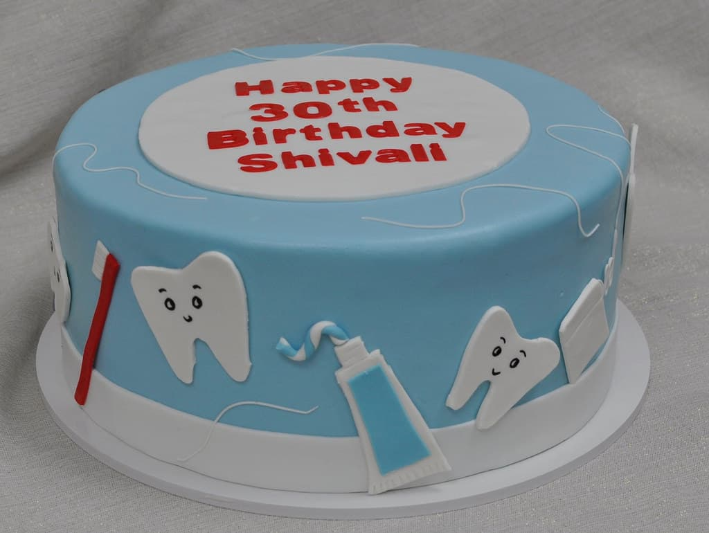 Torta con Tematica de dentista | Odontología | Pastel de dentista | Pastel dentista - Cod:OLG07