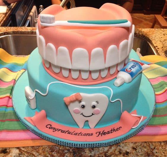 Torta del tema de Dentista | Odontología | Pastel de dentista | Pastel dentista - Cod:OLG08