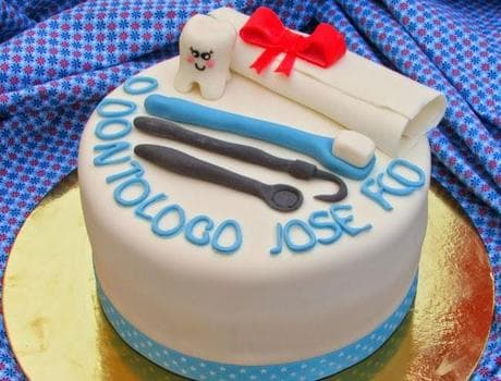 Torta Graduacion de Odontologo | Odontología | Pastel de dentista | Pastel dentista - Cod:OLG09
