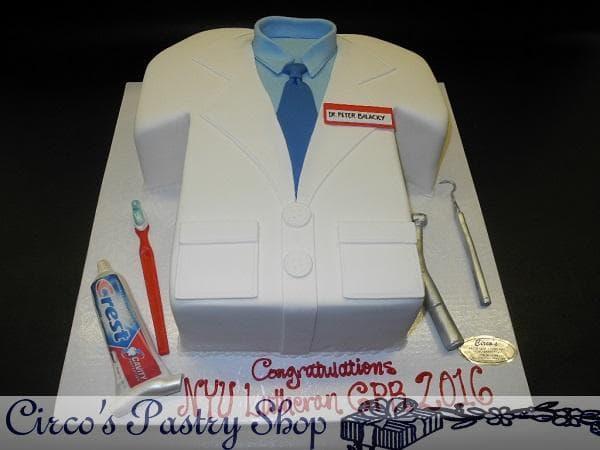Torta de Camisa de Dentista | Odontología | Pastel de dentista | Pastel dentista - Cod:OLG10
