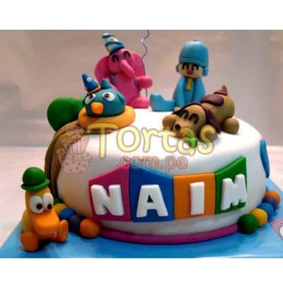 Tortas con diseño de Pocoyo | Torta de Pocoyo - Cod:PCY04