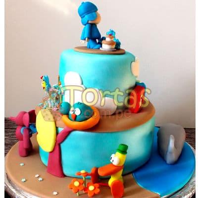 Torta Pocoyo Tematica | Torta de Pocoyo - Cod:PCY05