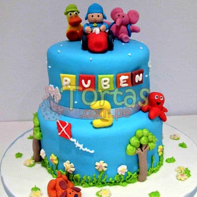 Torta Pocoyo 06 | Torta de Pocoyo - Cod:PCY06
