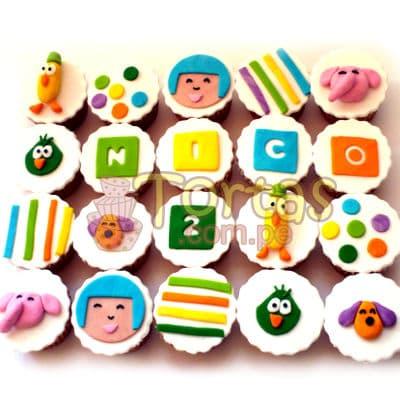 Muffins Pocoyo x 20 | Torta de Pocoyo - Whatsapp: 980-660044