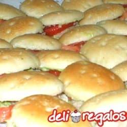 Bocaditos para Oficina Sadwichs de lomito ahumado y Gaseosa - Cod:PIC04