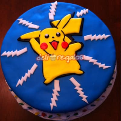 Grameco.com - Torta Pikachu 1 - Codigo:PKG01 - Detalles: Deliciosa torta de keke De Vainilla ba�ada con manjar blanco y decorada con masa elastica. Medidas 20cm de diametro. Presente incluye dedicatoria.  - - Para mayores informes llamenos al Telf: 225-5120 o 476-0753.