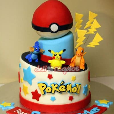 Torta Pokemon con Pokebola - Whatsapp: 980-660044
