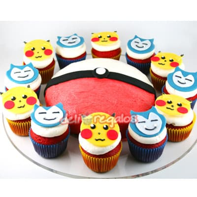 Cupcakes Pokemon | Tortas de Pokemon - Whatsapp: 980-660044