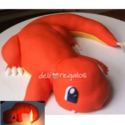 Torta Charmander | Tortas de Pokemon - Whatsapp: 980-660044