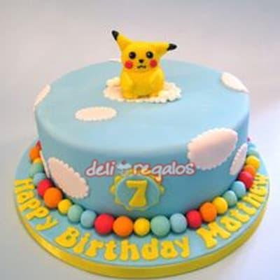 Grameco.com - Poke Torta 08 - Codigo:PKG08 - Detalles: Deliciosa torta de keke De Vainilla ba�ada con manjar blanco y decorada con masa elastica. Medidas 25cm de diametro. Presente incluye dedicatoria.  - - Para mayores informes llamenos al Telf: 225-5120 o 476-0753.